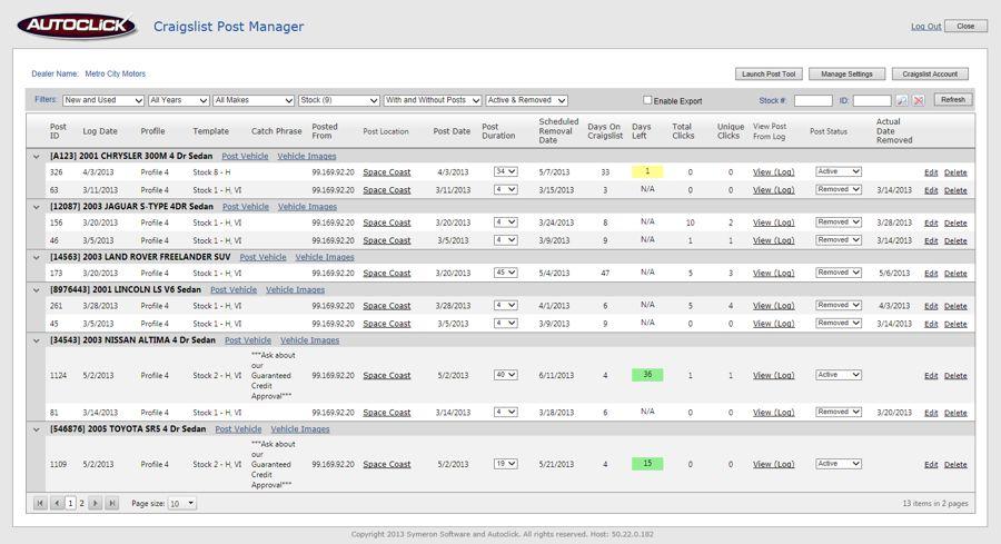 Autoclick craigslist post tool post manager maxwellsz
